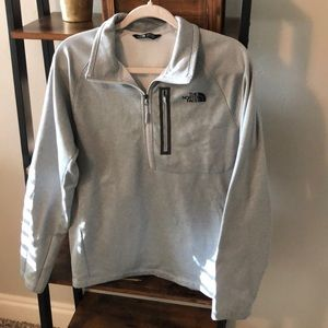 The North Face light grey half-zip sweater